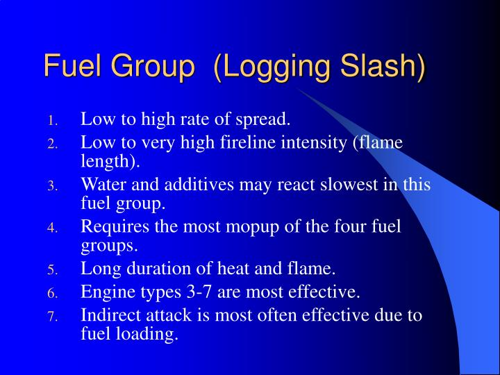 Fuel Group  (Logging Slash)