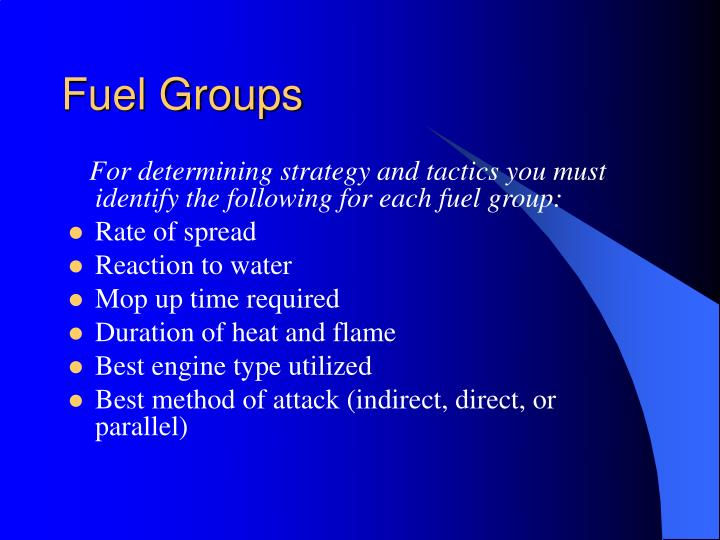 Fuel Groups