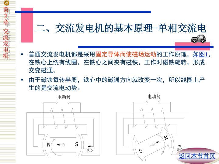 二、交流发电机的基本原理
