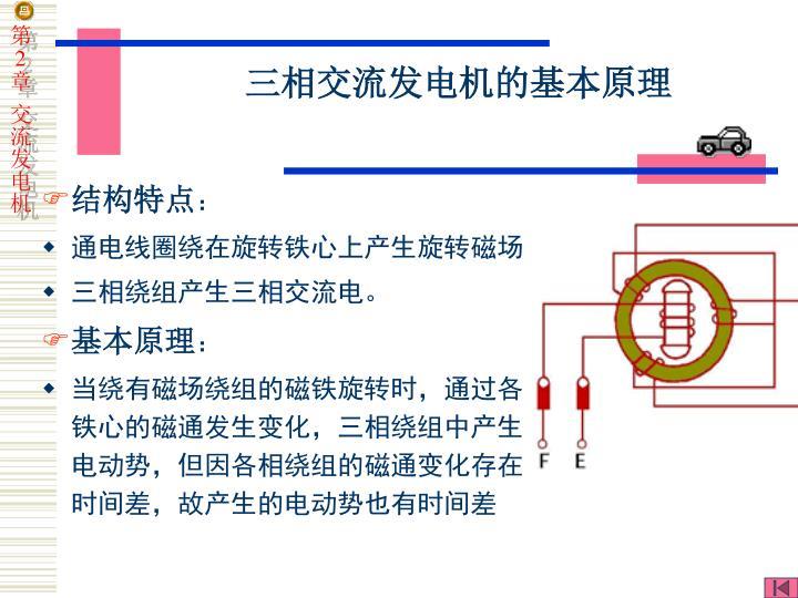三相交流发电机的基本原理
