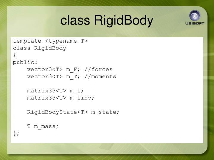 class RigidBody