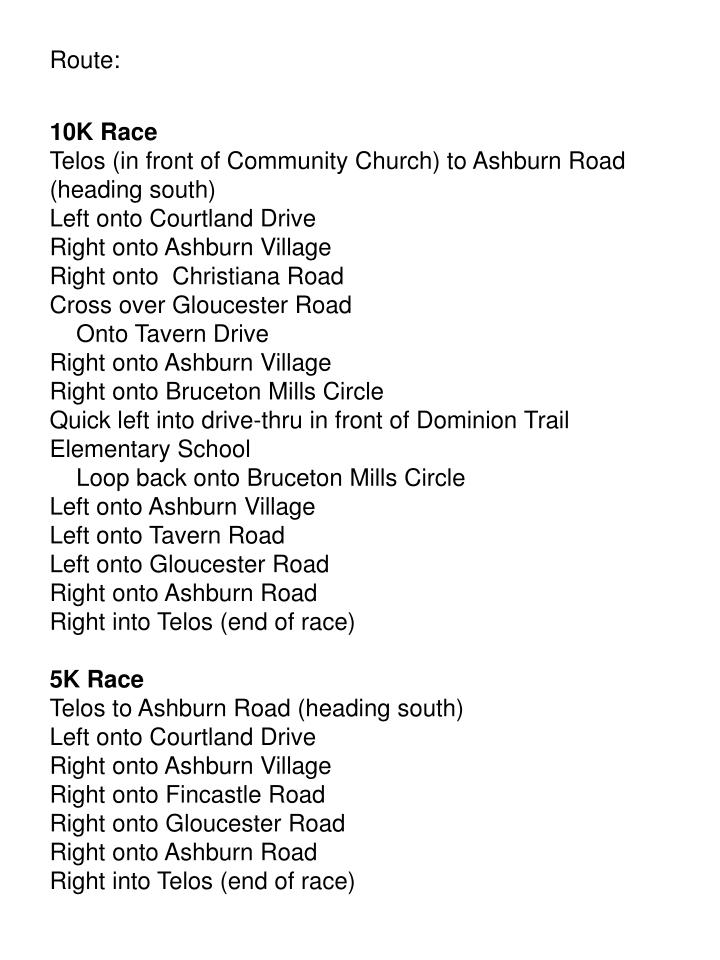 Route: