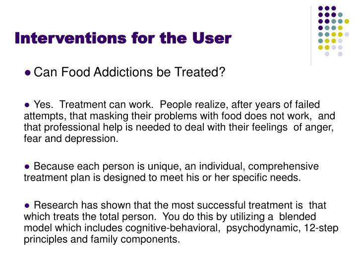 Interventions for the User