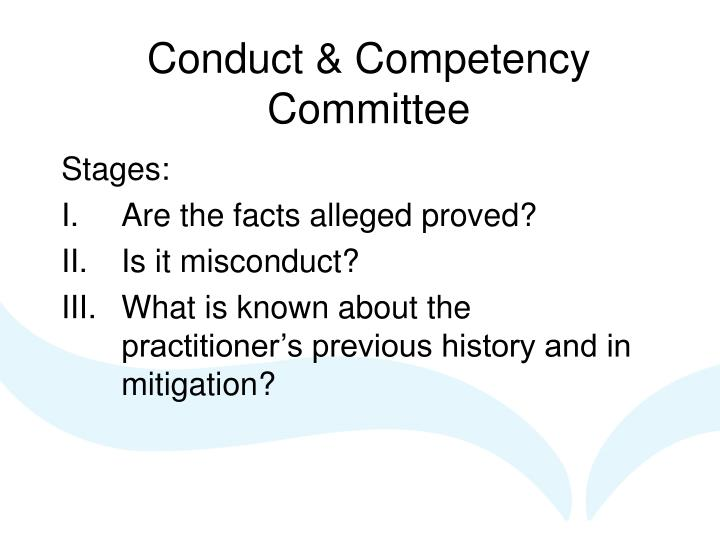 Conduct & Competency Committee