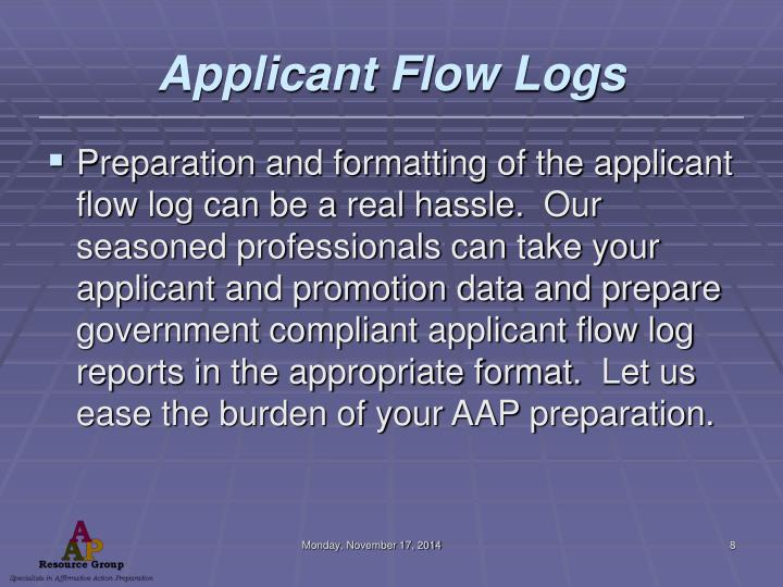Applicant Flow Logs