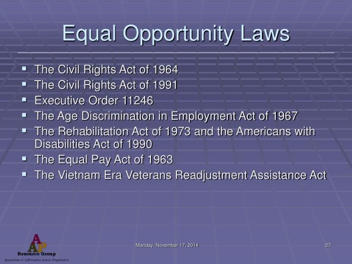 Equal Opportunity Laws