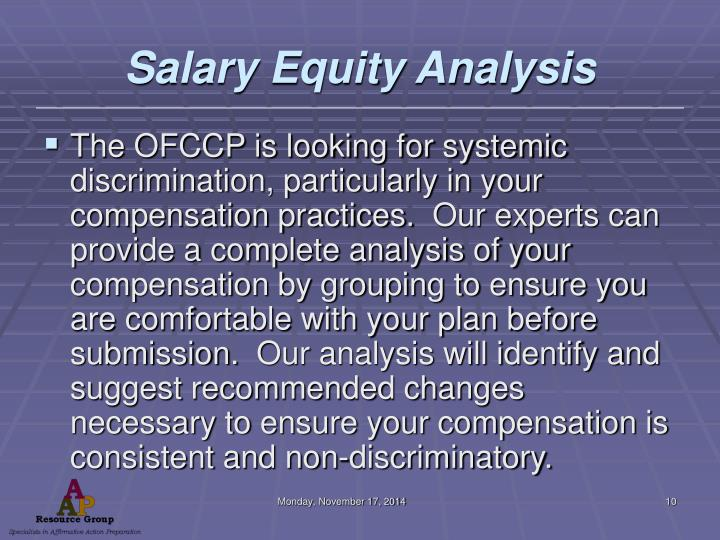 Salary Equity Analysis