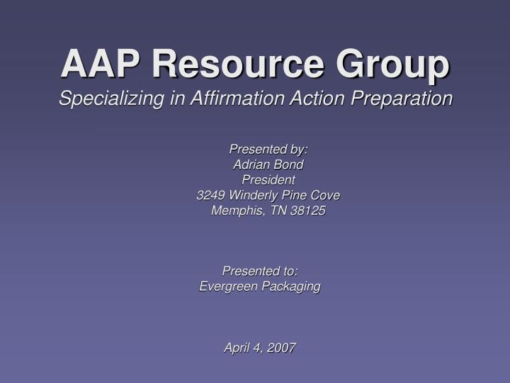 AAP Resource Group