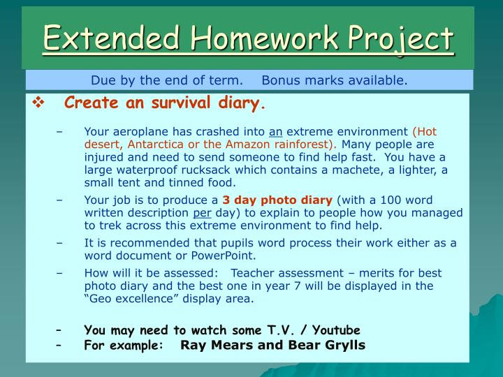 Extended Homework Project