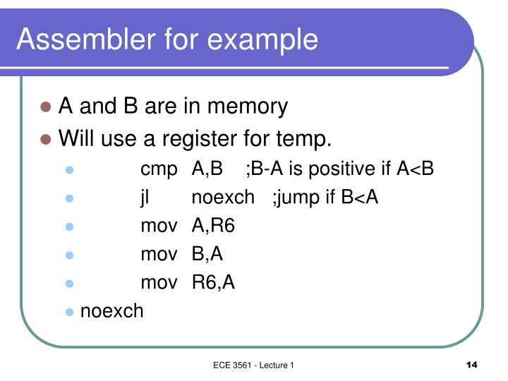 Assembler for example
