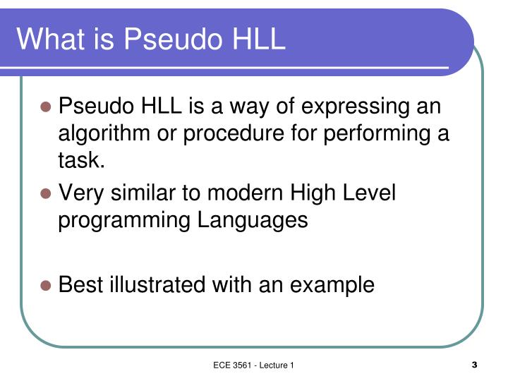 What is pseudo hll