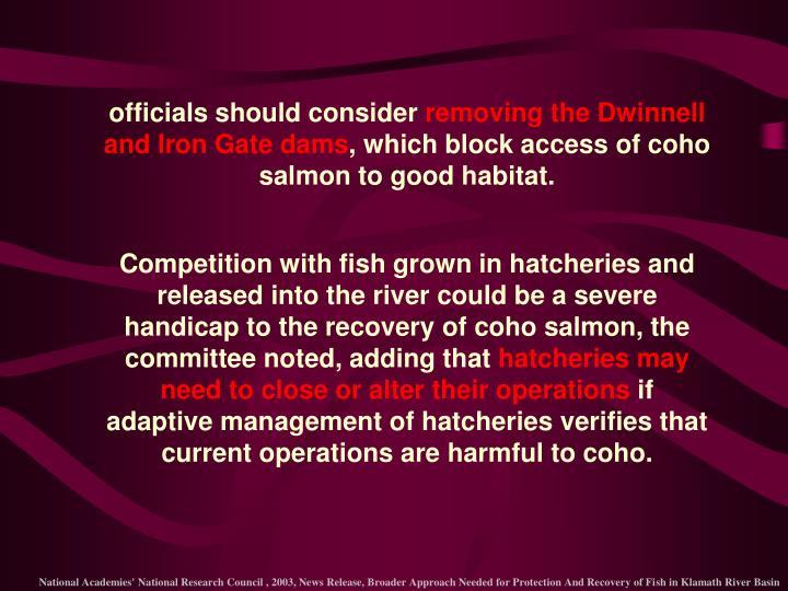 officials should consider