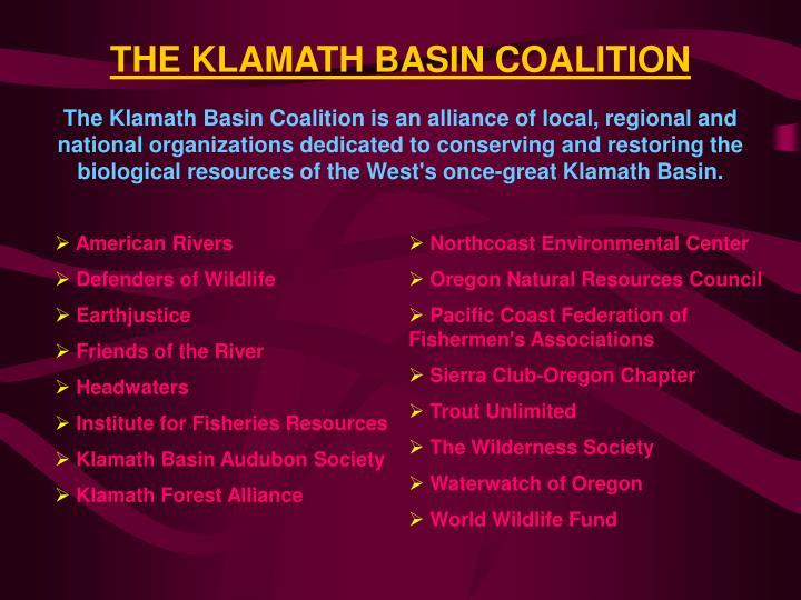 THE KLAMATH BASIN COALITION