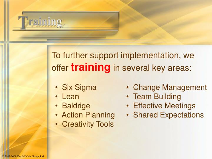 To further support implementation, we offer