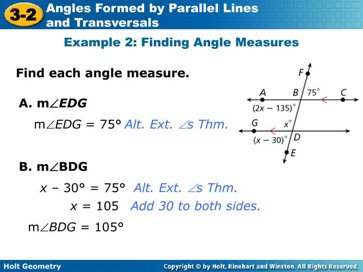 Example 2: Finding Angle Measures