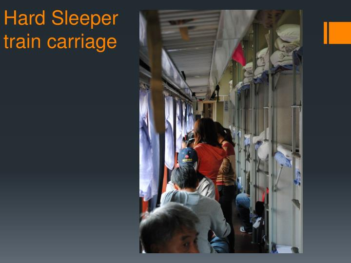 Hard Sleeper train carriage