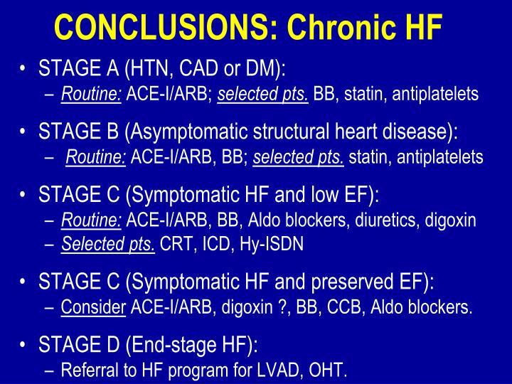 CONCLUSIONS: Chronic HF