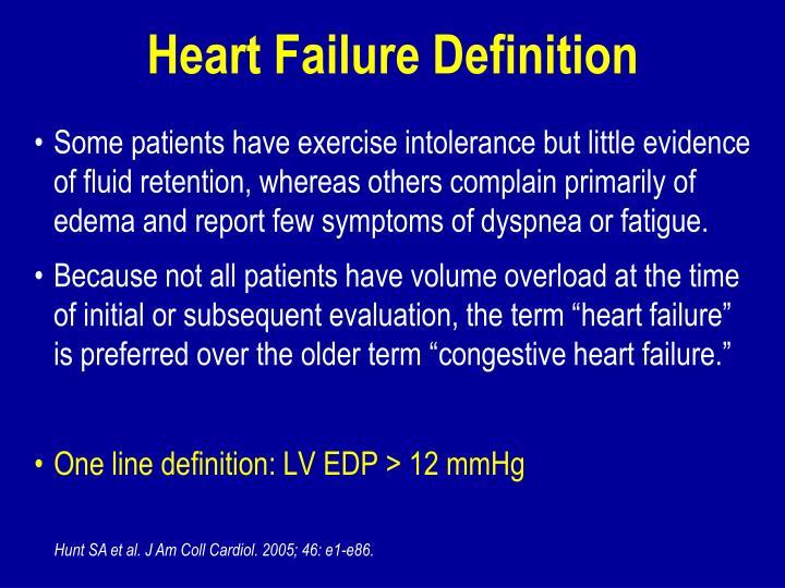 Heart Failure Definition