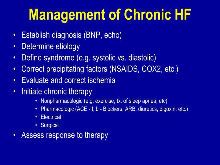 Management of Chronic HF