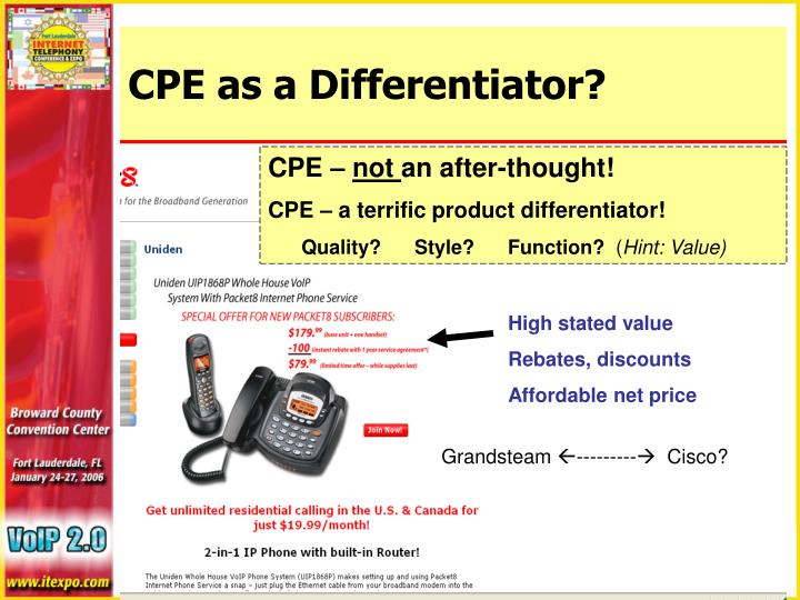 CPE as a Differentiator?