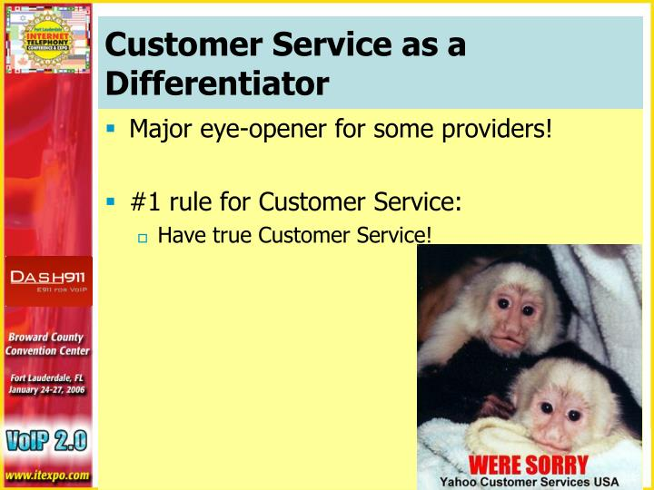 Customer Service as a Differentiator