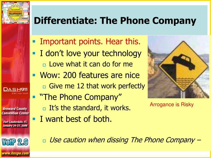 Differentiate: The Phone Company