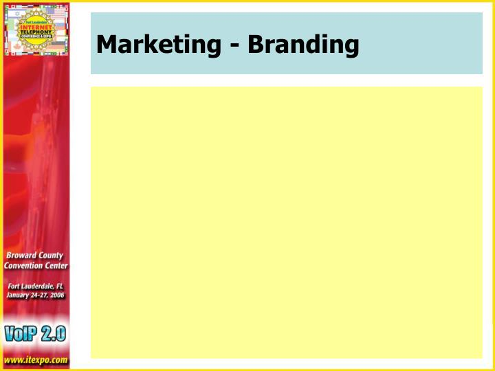 Marketing - Branding