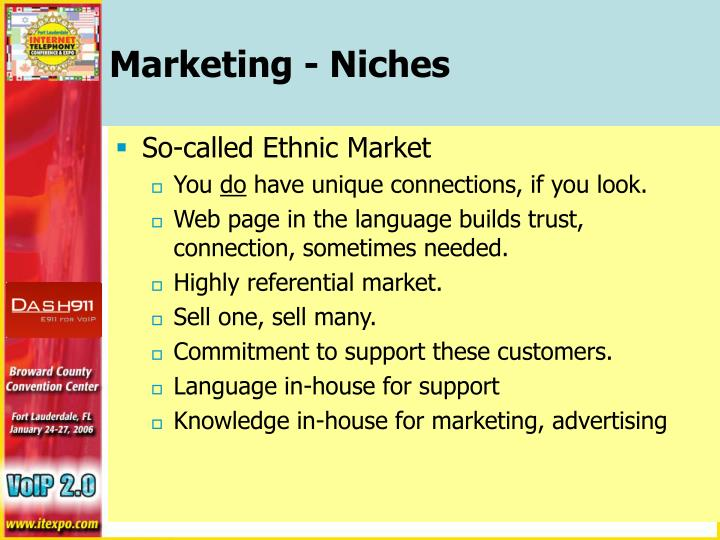 Marketing - Niches