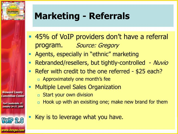 Marketing - Referrals