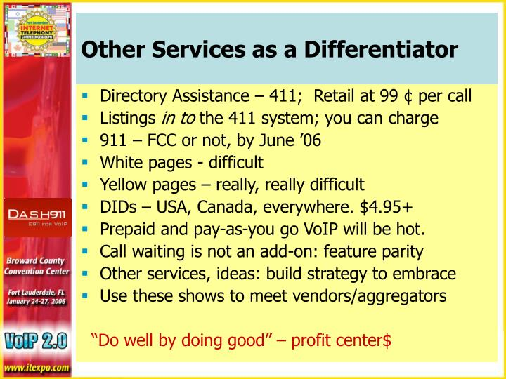 Other Services as a Differentiator
