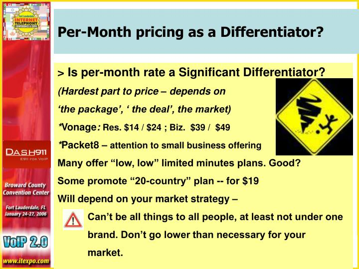 Per-Month pricing as a Differentiator?