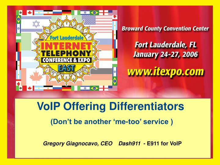 VoIP Offering Differentiators