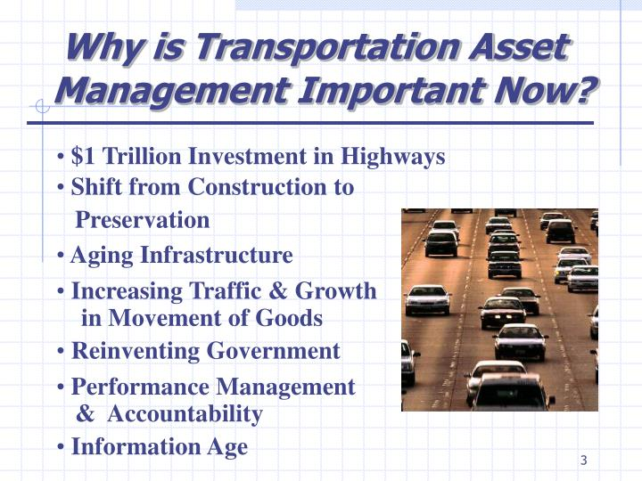 Why is Transportation Asset