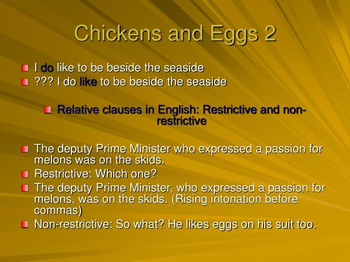 Chickens and Eggs 2
