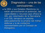 diagnostico una de las conclusiones