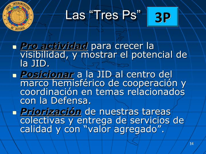 """Las """"Tres Ps"""""""
