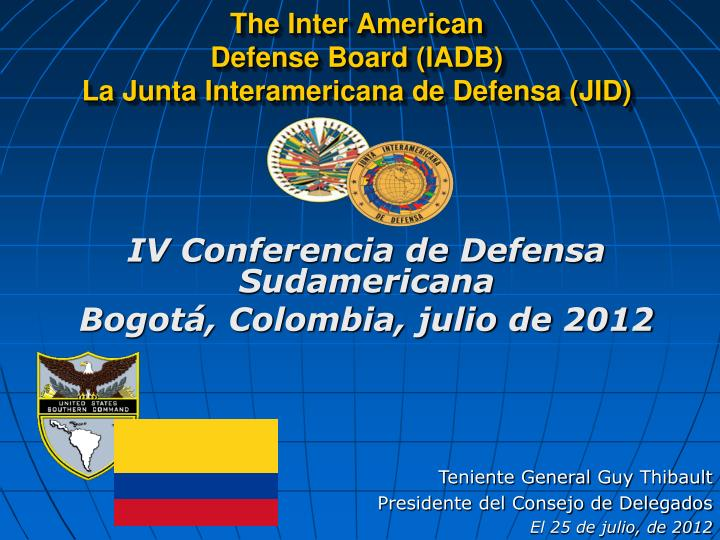 the inter american defense board iadb la junta interamericana de defensa jid