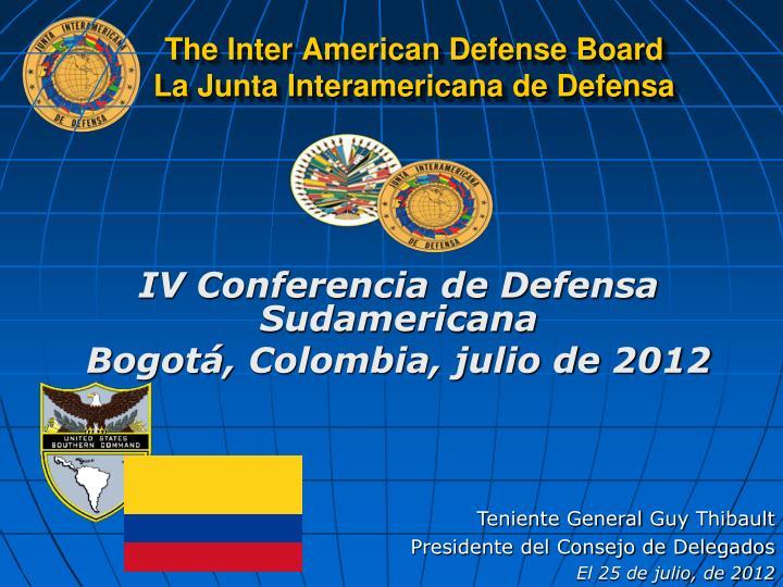 The Inter American Defense Board