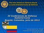 the inter american defense board la junta interamericana de defensa