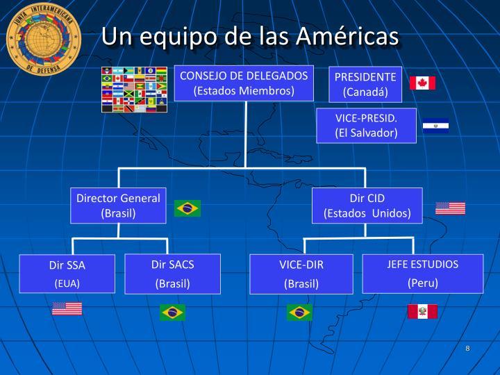 Un equipo de las Américas