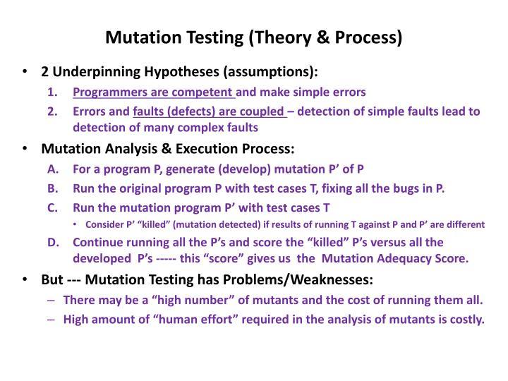 Mutation Testing (Theory & Process)