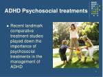 adhd psychosocial treatments