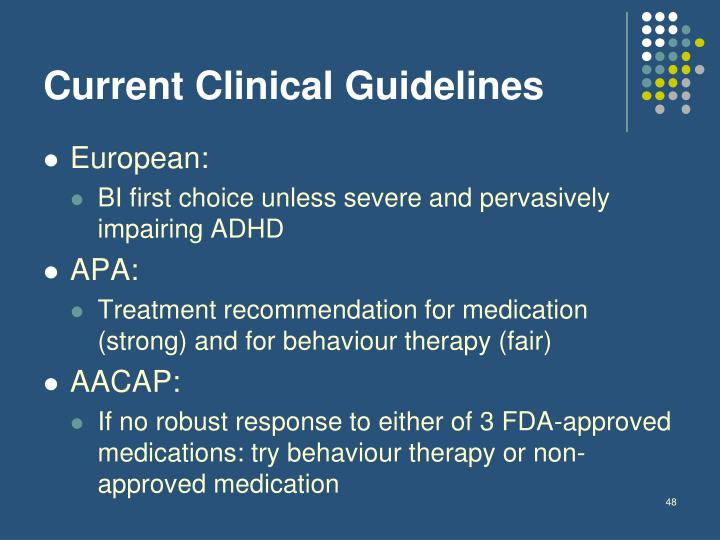Current Clinical Guidelines