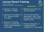 leuven parent training