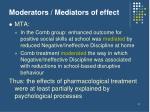 moderators mediators of effect
