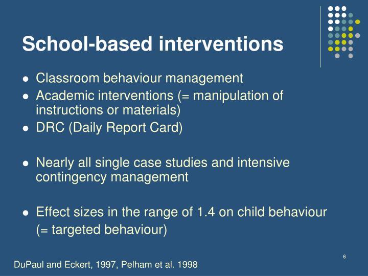 School-based interventions