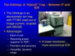the orbitrap a hybrid trap between it and icr
