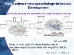 neur oscience neuropsychology behaviour development