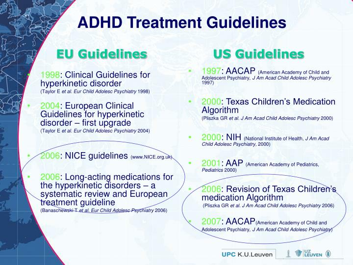 ADHD Treatment Guidelines
