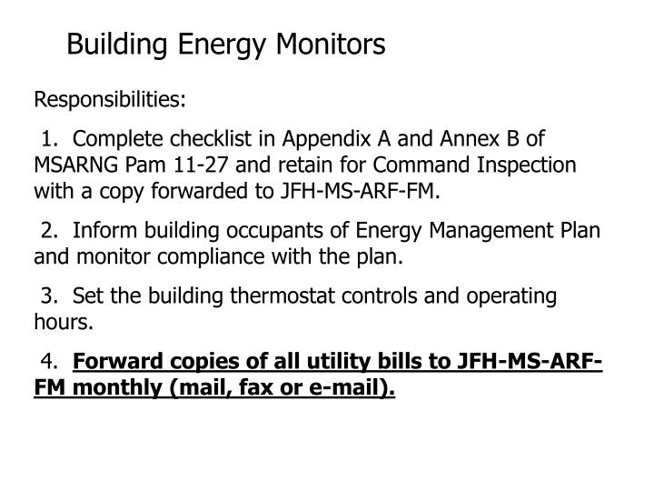 Building Energy Monitors